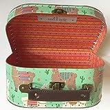 Sass and Belle Koffer/Kinderkoffer/Puppenkoffer/Aufbewahrungsbox. Pappkoffer, 3 Verschiedene Größen. (Grün/Lima Lama, Klein)