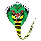 Groß drachen für kinder und erwachsene drachen einleiner,cobra kite mit langem Schwanz, drachen schnur und Spule enthalten