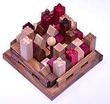 Castle - Burg - 3D Puzzle - Denkspiel - Knobelspiel - Geduldspiel - Logikspiel aus Holz mit vielen Spielvarianten