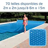 Linxor  Pool Solarfolie Solarabdeckplane Poolheizung 300 μm Zugeschnittene / 70 verfügbare Größen/EG-Norm
