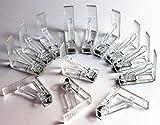 Tischtuchklammern Kunststoff transparent verschiedene Stückzahlen verfügbar Tischklammer Tischdeckenklammer (12 Stück)