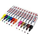Ciaoed Metallic Marker Pens, Permanent Marker, Satz von 12 Farben für Kartenherstellung DIY Fotoalbum Gebrauch auf irgendeiner Oberfläche-Papier Glas Kunststoff Keramik