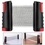 Weeygo Tischtennisnetze Tischtennis Netze, Justierbarer Einziehbares Netz Ping Pong Ersatznetz, Beweglicher Reisehalter - Einstellbare Länge 170(max) x 14,5cm (Noir)