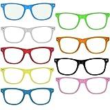 OG NERD-BRILLEN 10 STÜCK ohne Gläser Party-Brille Spaß-Brille Geek-Brille Pantobrille Wayfarer Lese-Brille Horn-Brille