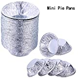 Hotop 200 Stücke Aluminium Folie Tortenformen Einweg Mini Tortenformen Kleine Blechformen Törtchen für Backen Lieferungen
