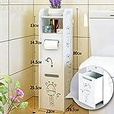 Weiyue Regal- Badezimmer Regalboden Badezimmer Abstellraum Badezimmer Schließfach Badezimmer WC Seitenschrank (größe : D-22X19.5X80cm)