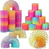 LISOPO 24 Stück Regenbogenspirale Springs Magic Rainbow Puzzle Lernspielzeug, Mitgebsel, Kindergeburtstag, Spielzeug,Party