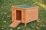 nanook 'Krümel' - Kleintierhaus für Freiläufe, Nistplatz für Hühner - Maße: 42 x 51 x 43 cm - Farbe: braun