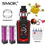 Authentisch Smok 230W Species Kit, E-Zigarette Starter Set mit 2ml Tank Verdampfer, Verdampfer Kit Ohne Nikotin, Ohne Flüssigkeit (Schwarz Rot)