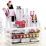 Homdox Kosmetikorganiser Transparent Make Up Aufbewahrung Acryl Box Durchsichtig mit 4 Schubladen, 4 Schichten 24 x 13 x 18.5cm (L x W x H)
