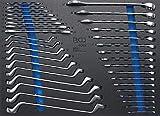 BGS 4089 , Werkstattwageneinlage 3/3: Maulschlüssel / Ringschlüssel , 35-tlg. , SW 6 -27 mm