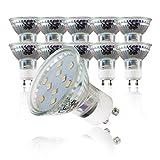 LED Leuchtmittel I GU10 Lampenfassung I 10 x 3 W Glühbirnen I warm-weiß leuchtende Glühlampen I 10er Set I ersetzen 30 W Halogen Lampen I Reflektorform I 230 V