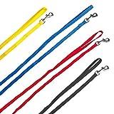 Welpenleinen aus Nylon passend zu den Welpenhalsbänder in 4 Farben 1 Meter lang ideal für Züchter auch als Sparset erhältlich