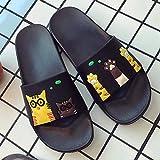 WDDNTX Flip Flops Frauen Hausschuhe Sommer Damen Folien Süße Katze Cartoon Plateausandaletten Slip On Flip Flops Strand Hausschuhe, 40-41