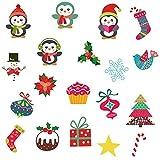 RALCAN Weihnachtsdekor Mini Aufkleber Niedlichen Pinguin Dekoration Kreatives Geschenk Für Kinder Kühlschrank Aufkleber Wandbild