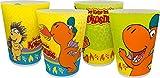 Drache Kokosnuss Der kleine Mehrwegbecher 4er Set Mehrwegtrinkbecher, Kunststoff, Mehrfarbig, 8 x 8 x 10,5 cm, 4-Einheiten
