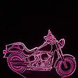 3D Nachtlicht Geschenk Spielzeug Tischleuchte 7 Farben Motorrad-Augenschutz