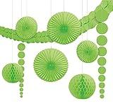 Amscan 243568-53-55 - Hängedekoration Set, 9 teilig, grün