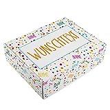 Herz & Heim Geburtstags Geschenk-Verpackung - 28 cm x 35,5 cm x 10 cm (B/H/T) - mit Ihren Namen und Wunschtext bedruckt