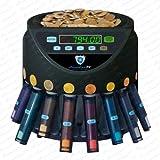 Münzzähler Euro Münzzählmaschine Münzsortierer Geldzählmaschine Münzen SR1200 Abhülsung von Securina24 (schwarz - BBB)