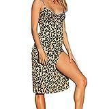 Mosstars Sommerkleid reizvoller Sommerleopardruck Linke Seite aufgeteilte Kleiddame Abendkleid-Kleidparty reizvolle Kurze