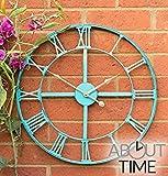 About TimeTM Gartenuhr aus Metall in Antik-Optik, 46cm
