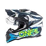 O'Neal Sierra II Helm Slingshot Blau Motorrad MX Moto Cross Offroad DH MTB Dual Sport, 0817-00, Größe XL