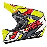O'Neal Sonus Strike Fahrrad Helm All Mountain Bike DH MTB Downhill Freeride Fidlock Magnetverschluss, 0481, Farbe Gelb, Größe M