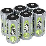 ANSMANN  LSD Mono D Akkubatterie, 1,2 V / Typ 5000mAh / Hochkapazitiver NiMH Akku mit konstant hoher Leistungsabgabe & Langlebigkeit - ideal für Geräte mit hohem Stromverbrauch, 6 Stück