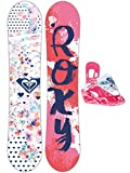 Roxy Kinder Freestyle Snowboard Set Poppy 80 Banana Speed Strap Set Gir