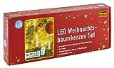 Idena Mini LED Christbaumkerzen 10er Set warmweiß, kabellos, batteriebetrieben, 8582090