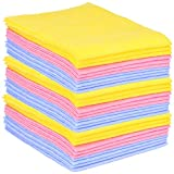 com-four 30 Haushaltstücher, extrem saugfähige und strapazierbare Allzweck-Wischtücher aus Viskose (030 Stück - Putztücher)