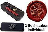 Siegelset in Geschenkdose Illuminata 24 mm 2 Initialen Eine tolle Geschenkidee um etwas persönliches zu schenken