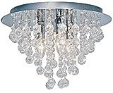 Nino Leuchten Deckenleuchte London/Durchmesser: 38 cm/Chrom, Glasbehang/3-flammig 63040306