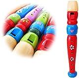 KEEPDRUM KFL1RD Flöte aus Holz für Kinder Rot Kinderflöte