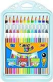 BIC Kinder Malset mit 12x BIC Kids Evolution Buntstifte, 12x BIC Kids Couleur Fasermaler für Kinder ab 5 Jahren & 12x BIC Kids Plastidecor Wachsmalkreide für Kinder ab 30 Monaten - 36 Kinder Stifte