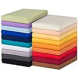 MOON-Luxury Spannbettlaken Spannbetttuch Jersey Stretch 230g/m² für Wasserbetten, Boxspringbetten und herkömmliche Matratzen (mais, 180x200 - 200x220)