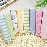 Babywaschlappen und -tücher aus Baumwolle - Ultraweiche und saugfähige Pflegetücher für empfindliche Babyhaut und 100 natürliche, farbstofffreie, Wiederverwendbare Tücher Perfektes, 8er Pack 9'X9