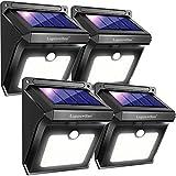 Luposwiten Solarlampen für Außen,28 LED Solarleuchten mit Bewegungsmelder Aussenbeleuchtung Solarleuchten für Außen, Patio, Wand, Flur, Treppen, Zaun, Hof, Einfahrt, Terrassen Solarlichter[4 Stück]