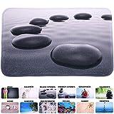 Badteppich, viele schöne Badteppiche zur Auswahl, hochwertige Qualität, sehr weich, schnelltrocknend, waschbar (70 x 120 cm, Black Stones)