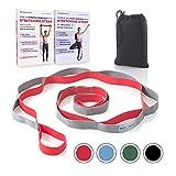 Yoga Gurt für Stretching - Nicht Elastisch Fitness und Gymnastik Band mit 12 Schlaufen für Tanzen, Ballett, Training - empfohlen Physikalische Therapie Equipment