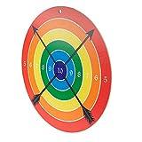 Spielzeugmanufaktur VAH Stabile Zielscheibe für Bögen und Armbrüste mit Saugpfeilen [Pappelzholz, 41 cm Durchmesser, zum Aufhängen] Made in Germany