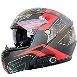 JPFCAK Motorrad Bluetooth Headset, Stereo-Sound, Kommt mit FM, Männlich und Weiblich, Double Lens Offenen Gesichts Helm, Cruiser, City, Roller Helm, Sport, ECE-Zertifizierung, L-2XL,Black-XXL=63-64cm