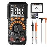 Tacklife DM08 Multimeter Digital Autorange Voltmeter Amperemeter Batterietester Ohmmeter Spannungsmesser Strommessgerät mit Hintergrundbeleuchtung Bildschirm Inkl. Kabel Messleitung Messspitzen