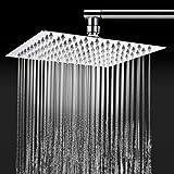 TAPCET Duschkopf Kopfbrause Regendusche Top Duschköpfe Regenduschkopf Regenbrause 304 Edelstahl poliert Spiegeleffekt 8'' Top Spray Shower Head Quadratisch