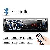 Kdely Autoradio mit Bluetooth Freisprecheinrichtung, Radio Tuner 1 Din, FM/USB/MP3/WMA/WAV/TF-Media Player/Fernbedienung, Single Din Universal Autoradio