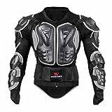 Oshide Motorradjacke hochwertig Motorrad Schutz Protektoren Schutzjacke Hemd Brustschutz Fallschutz(Grau)