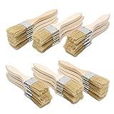 Farbpinsel (24er Set) -Acrylpinsel Set Pinsel zum Streichen und Lackieren Größe 38.1mm - Ideal für Wand- und Holz Farbe zum Beizen, für Leim und Gesso-Grundierungen - Pinsel zum Malen
