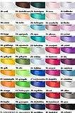 Jajasio 30 Yard-Rolle Satinband 6mm breit, Auswahl aus 50 Farben Schleifenband Geschenkband Dekoband / Farbe: 01 - weiss