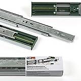 1 Paar (2 Stück) SO-TECH Vollauszüge mit SoftClosing H 45 / L 600 mm Schubladenschienen Teleskopschienen